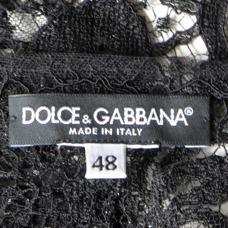 Dolce Dolce Dolce amp; Gabbana amp; Schwarz Gabbana Spitzenkleid amp; Schwarz Spitzenkleid qqExr4wRp