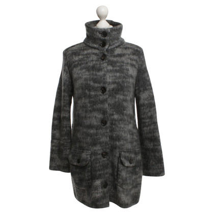 Marc Cain Knitted coat in gray