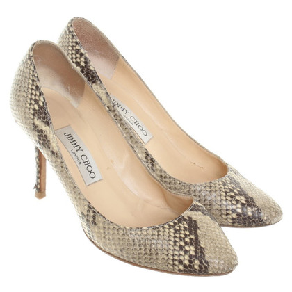 Jimmy Choo Pumps in Reptilleder