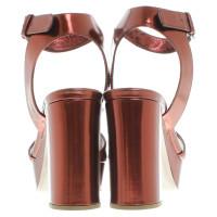 Miu Miu Copper plateau sandals