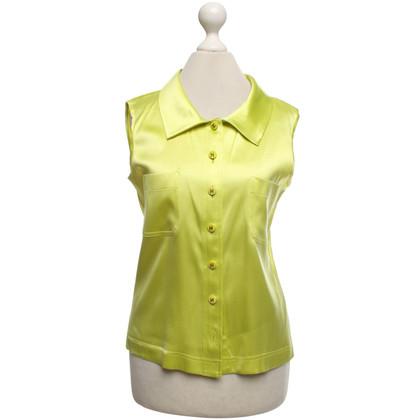 Chanel Mouwloze blouse in het groen