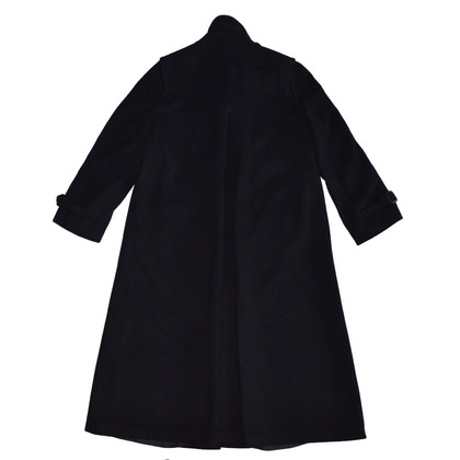 Burberry Dark Blue Wool Coat
