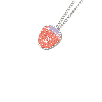 Chanel Strawberry Charm Necklace