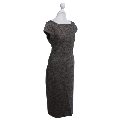 Max Mara Tweed jurk in beige / zwart