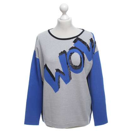 Luisa Cerano Sweater in blue / grey