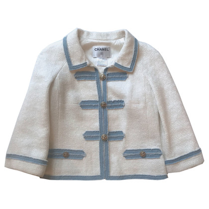 Chanel Tweed jacket with jeans trim