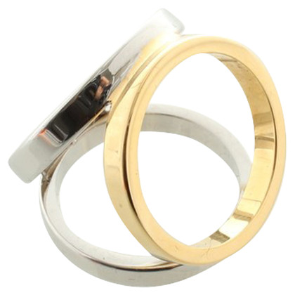 Hermès Cloth ring in gold and silver