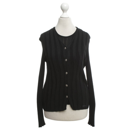 Versace Twin set in black
