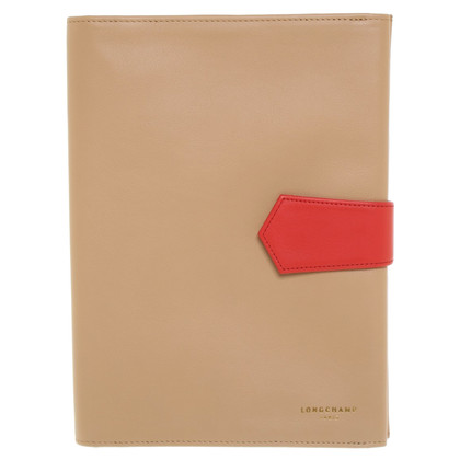 Longchamp etui met notebook in Beige