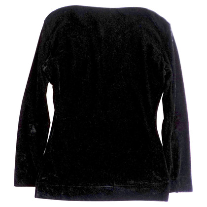 Moschino Cheap and Chic Samtbluse in Schwarz