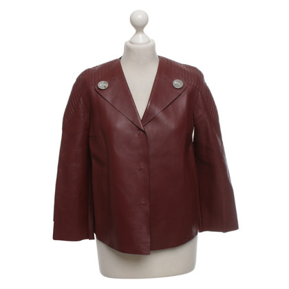 Longchamp Bordeaux red short jacket