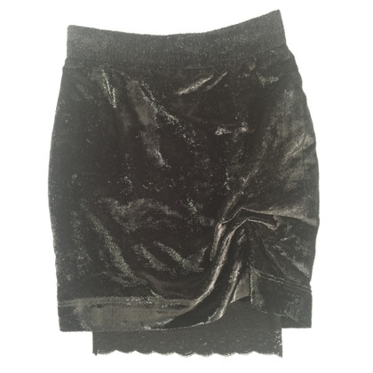 Moschino Velvet skirt with glitter
