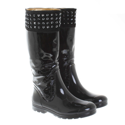 Pinko Rubber boots in black