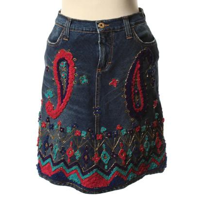 D&G Denim skirt with applications