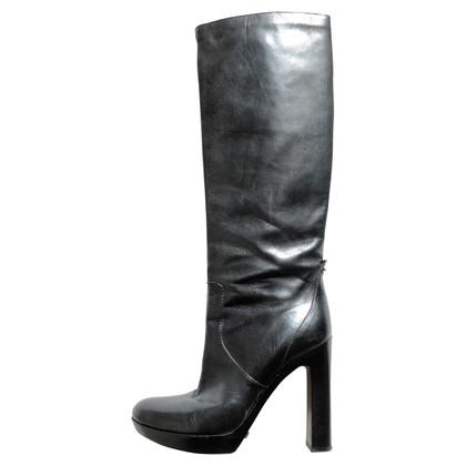 Gucci stivali di pelle nera