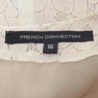 French Connection Spitzenkleid in Beige