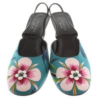 Gucci Slingbacks with floral pattern