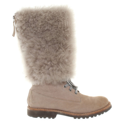 Brunello Cucinelli Fur boots in beige