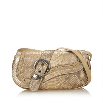"""Christian Dior """"Gaucho Saddle Bag"""" aus Pythonleder"""