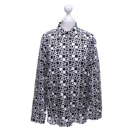 Van Laack Blouse blouse in zwart / wit