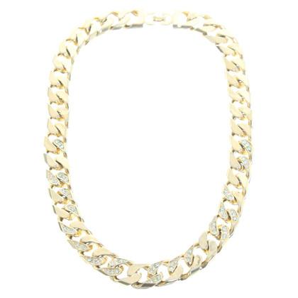 Christian Dior Curb chain with Rhinestone trim