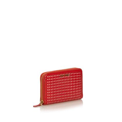 Miu Miu Patent Leather Knit Wallet
