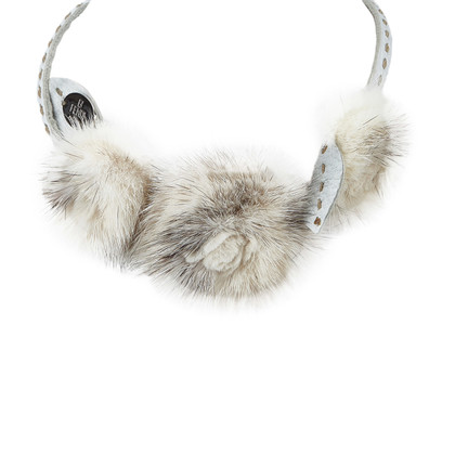 Fendi Necklace with mink detail