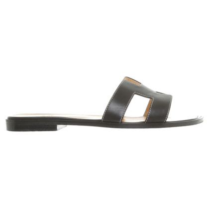 Hermès Sandals in black