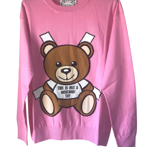 nuovo arrivo 749e8 fe4e1 Moschino Maglione lavorato a maglia in cotone rosa / rosa ...