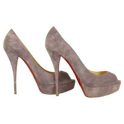 Christian Louboutin Suede peep-toes