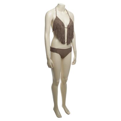 Luli Fama Bikini in marrone