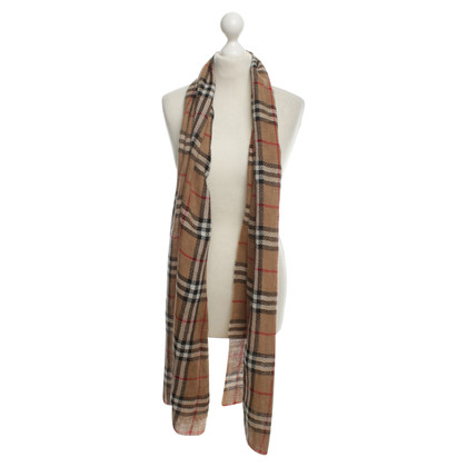 Burberry Alpaca scarf with checked pattern