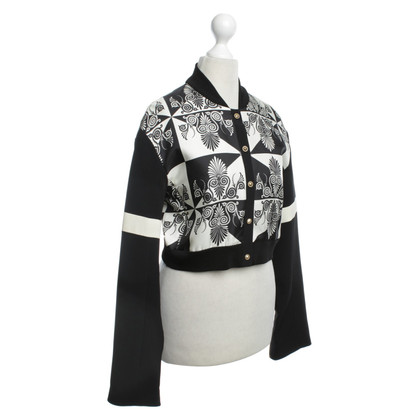 Fausto Puglisi Bomber jacket in black / white