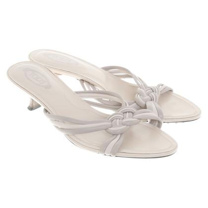 Tod's Kitten heels in beige / cream