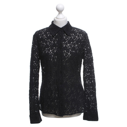 Armani Jeans Lace blouse in black