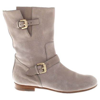 Santoni Ankle boots in light gray