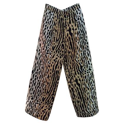 Valentino Pantaloni stampa animale