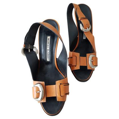Manolo Blahnik Orange pumps