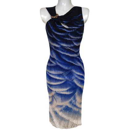 Roberto Cavalli Buckle printed logo dress.