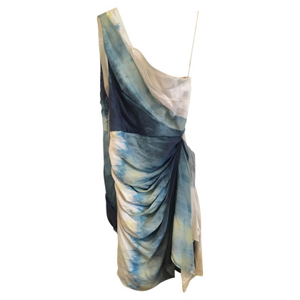 Alice + Olivia One Shoulder Silk Dress