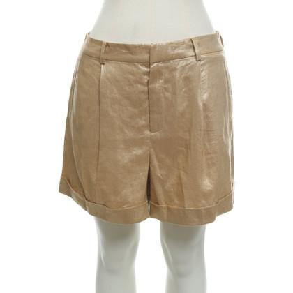 Ralph Lauren Goudkleurige linnen shorts