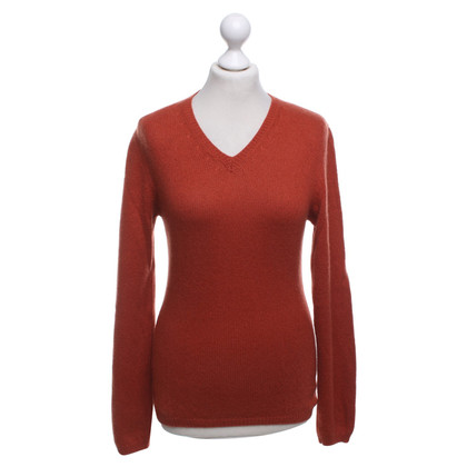 Aida Barni Cashmere sweater in orange-red