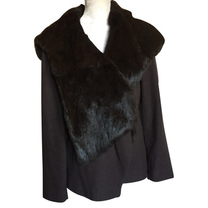 Marc Cain Wool jacket with fur collar