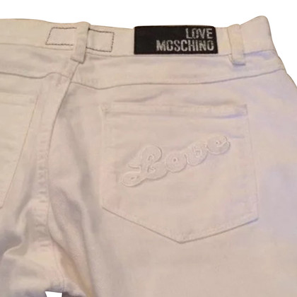 Moschino Love white jeans