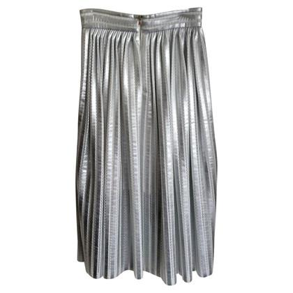 Maje Jupe plissée couleur argent