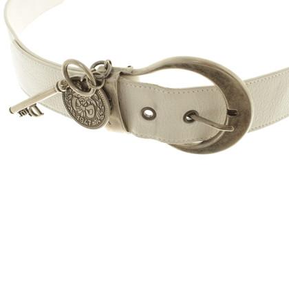 Christian Dior Cintura in crema bianca