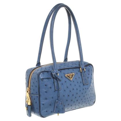 Prada Ostrich leather shoulder bag
