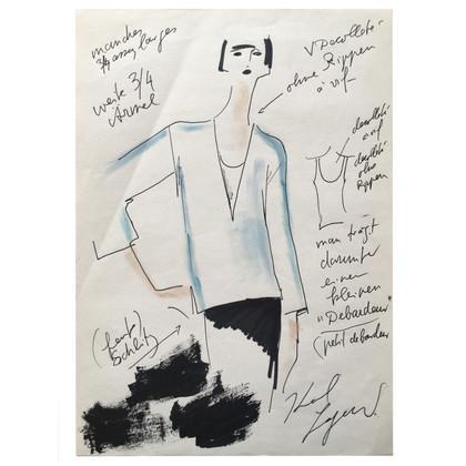 Karl Lagerfeld Fashion Sketch