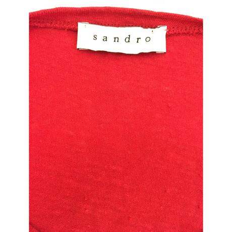 Sandro Roter Leinenpullover Rot Verkauf Komfortabel 100% Authentisch Zu Verkaufen Billig Verkauf Besuch Neu NMmSHEFH