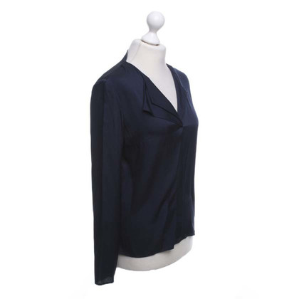 Hugo Boss Silk blouse in dark blue